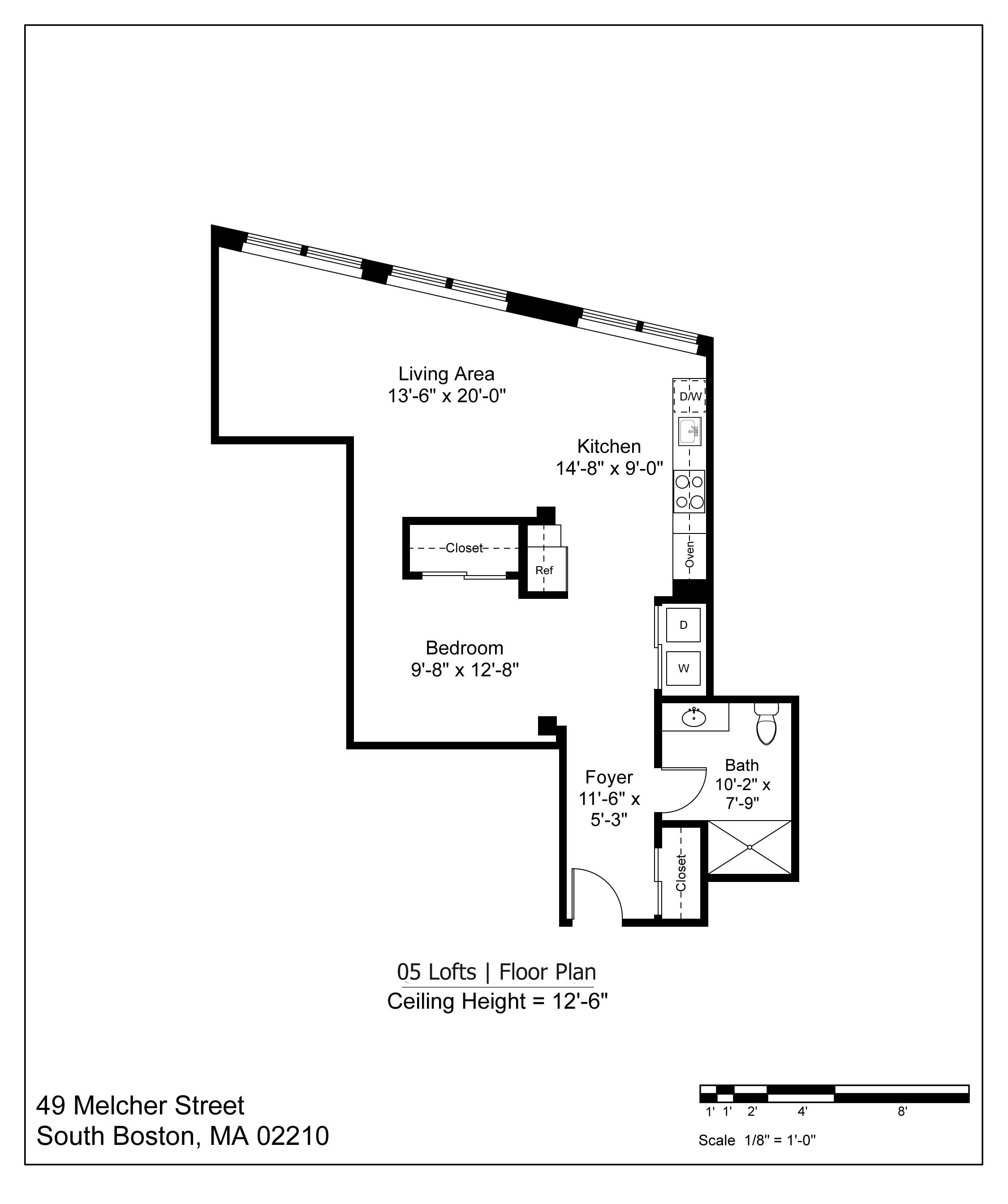 05 LOFT FLOOR PLAN - 885 SF   $3000-3200/MONTH