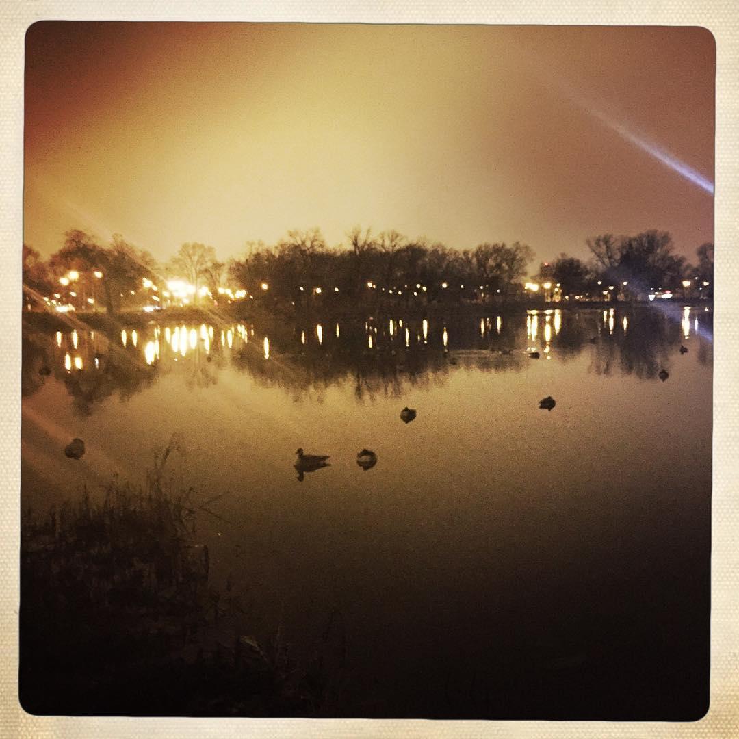 Day 9: rainy lagoon.