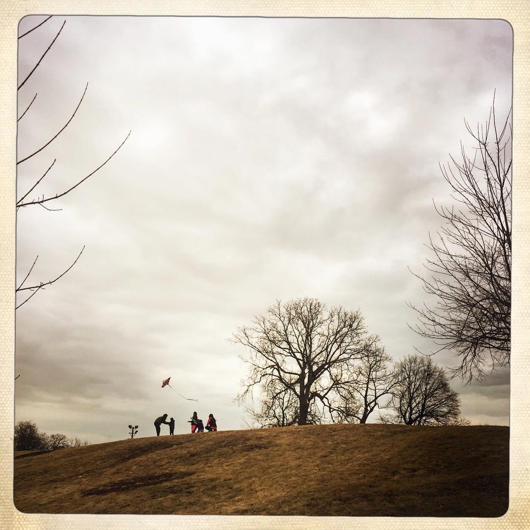 Day 87: kite flying family.
