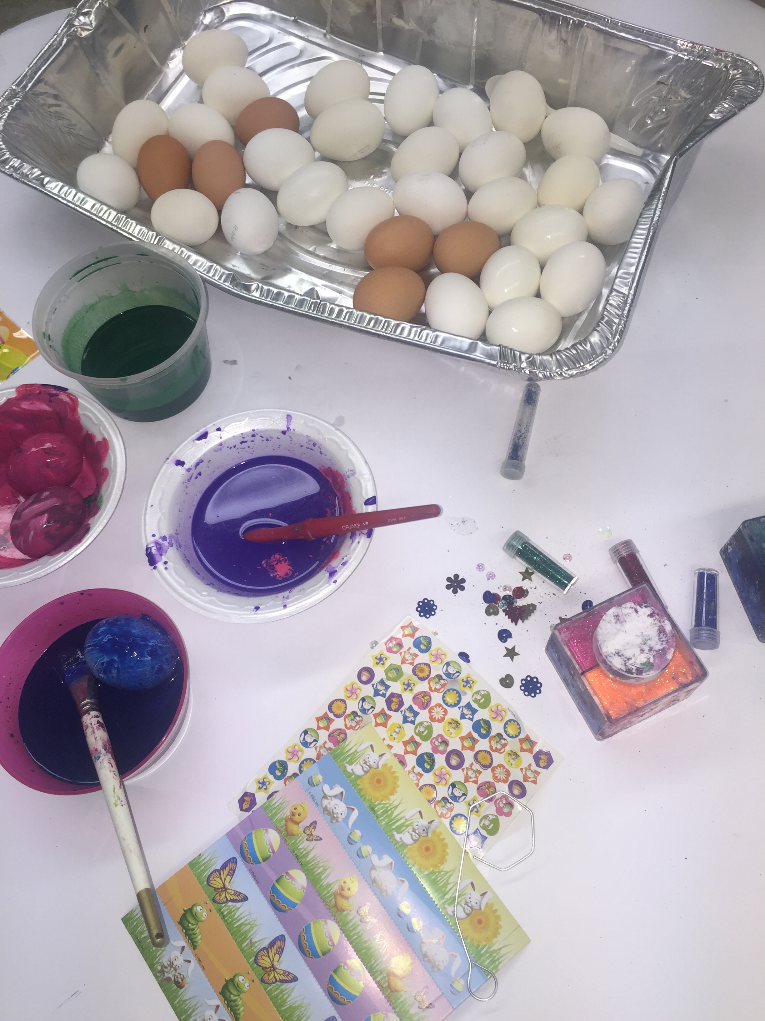 Painting Our Eggs!