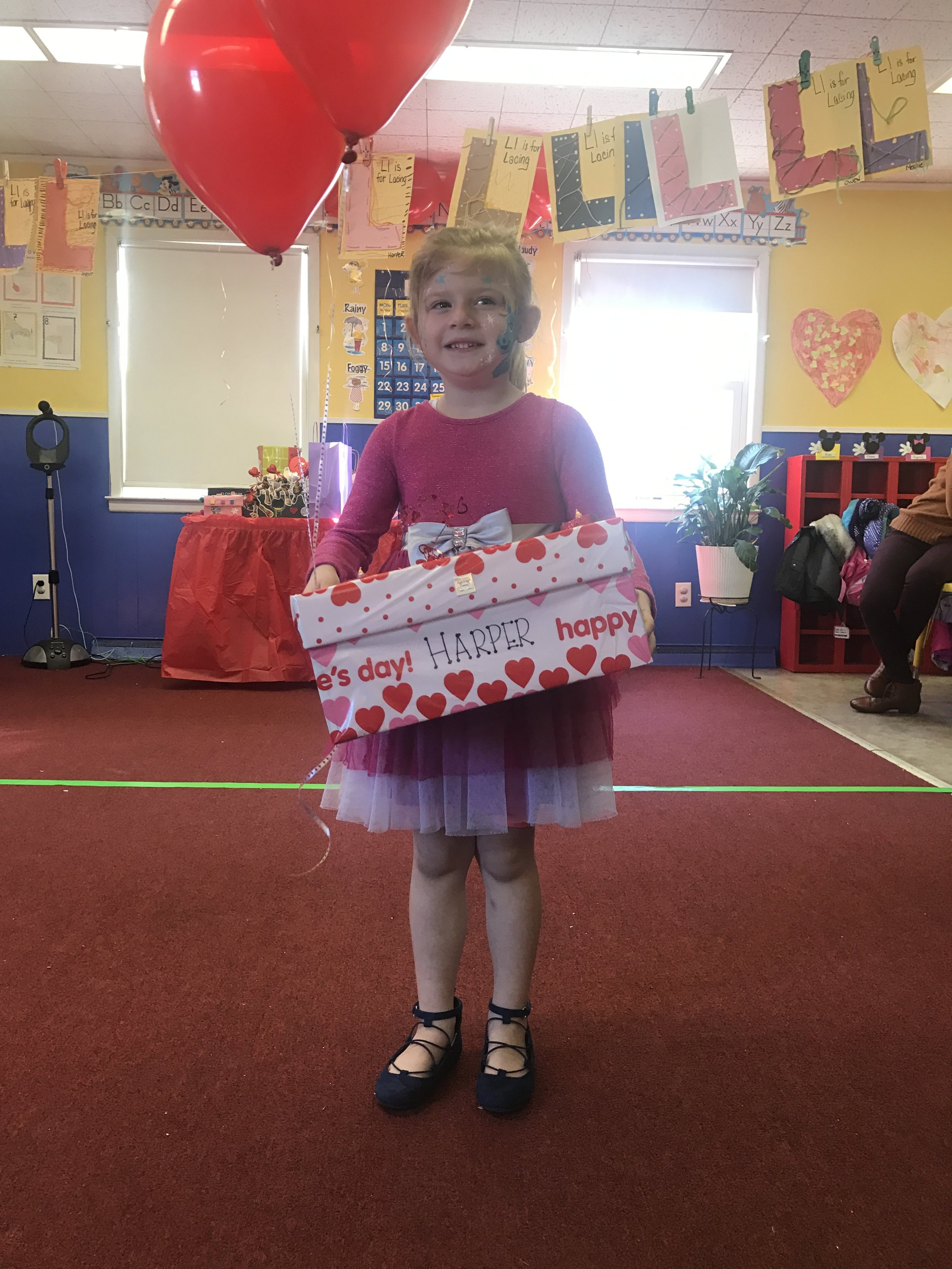Harper and her family did a great job with their Valentine's Day Box!