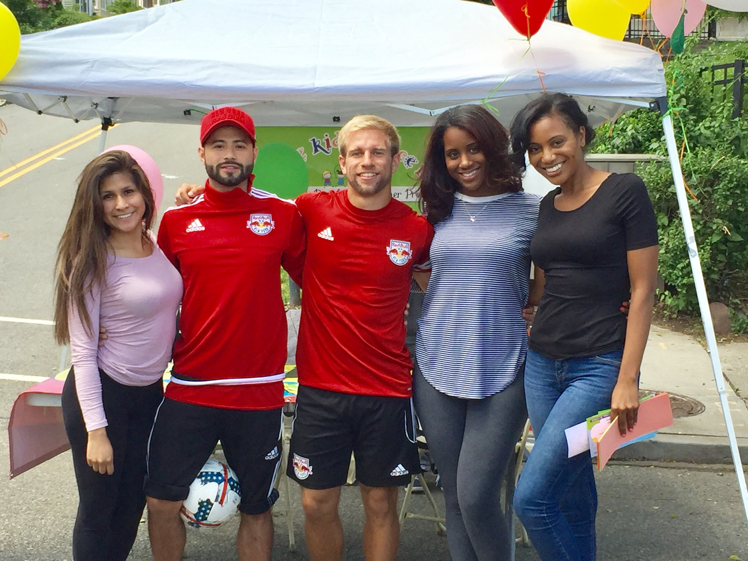 The New York Red Bulls Street Team joined us.