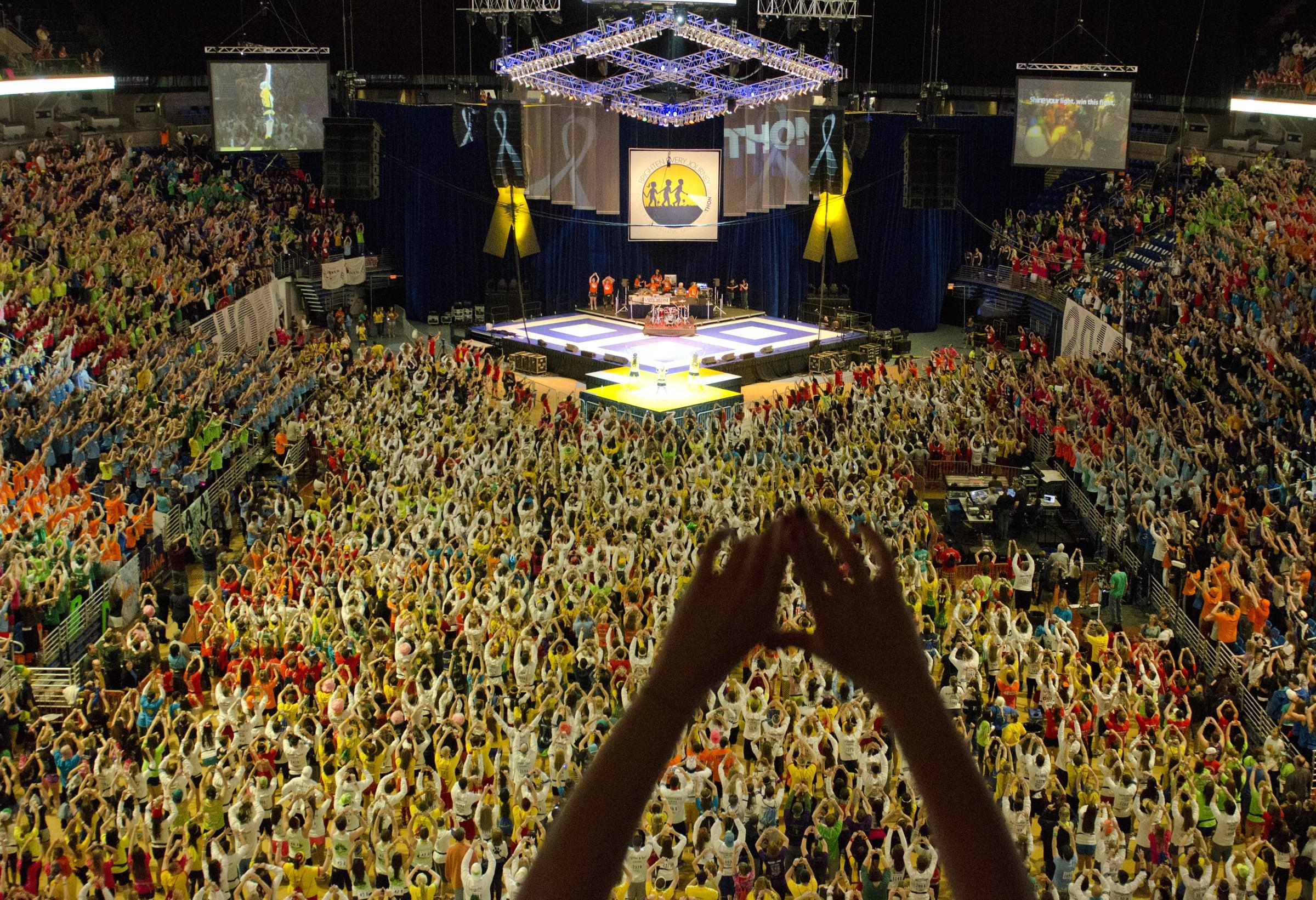 Birds Eye View of The Penn State IFC/Panhellenic Dance Marathon