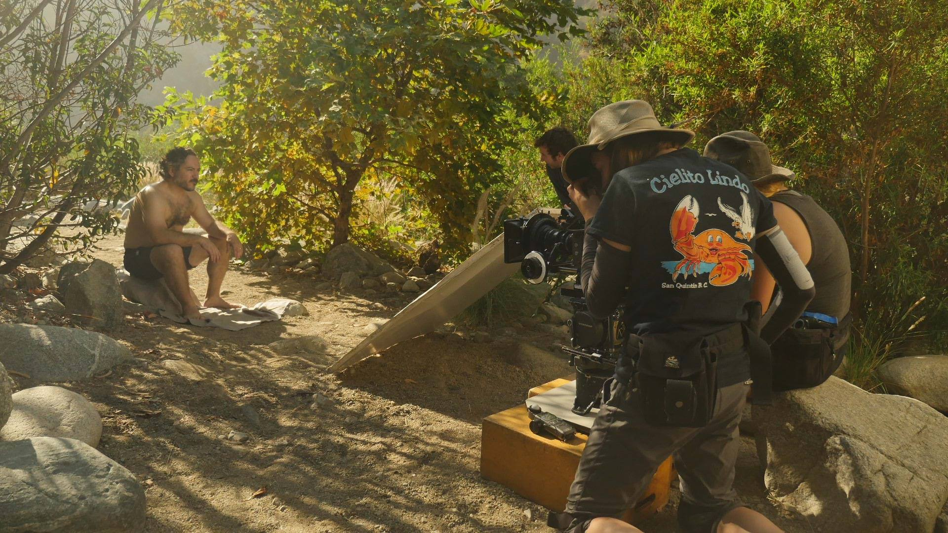 Filming Charlie Pecoraro as 'Chris' during the 1st weekend of 'Malacostraca.'