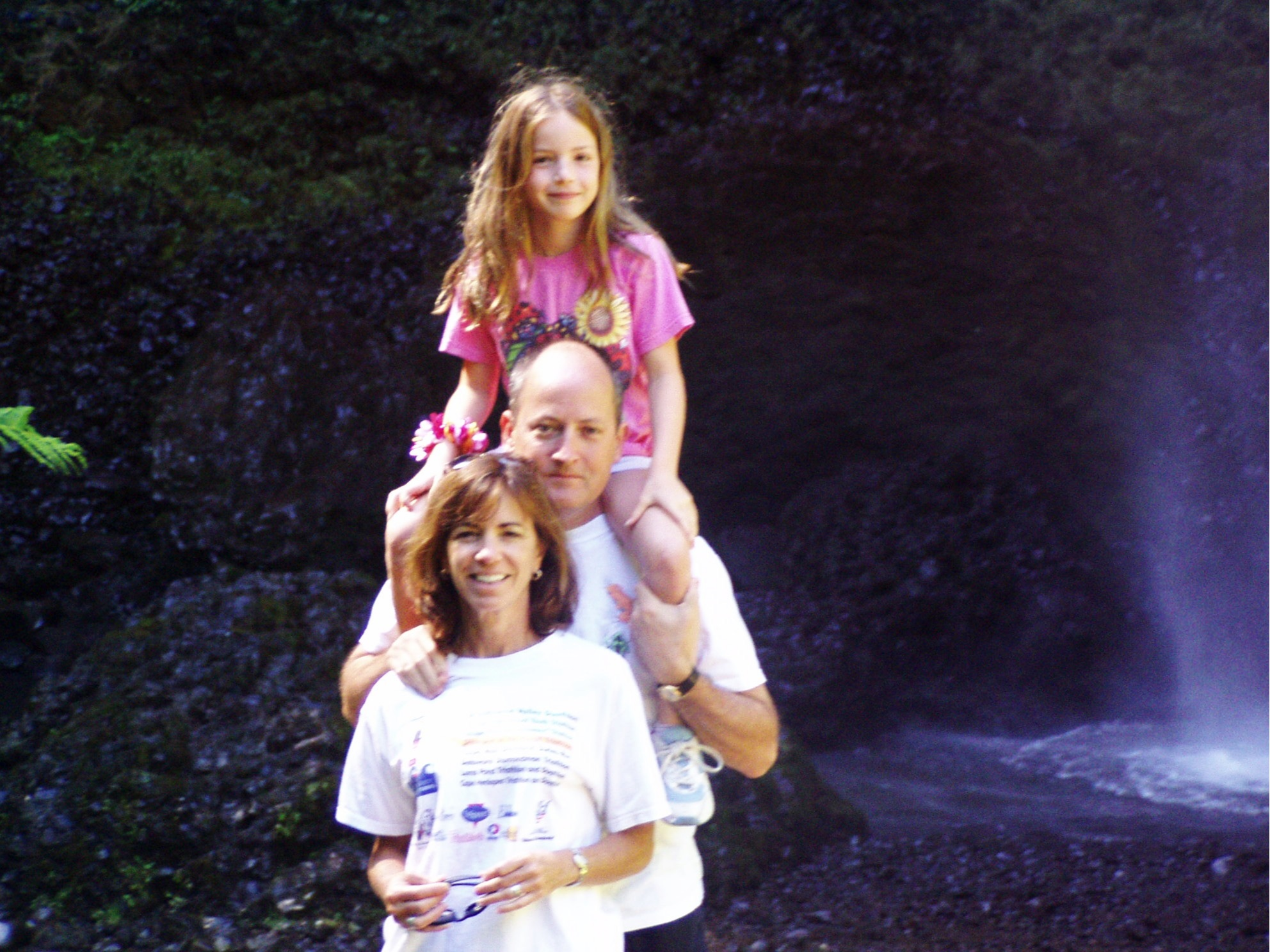 Taken at the famous Multnomah Falls on the Columbia River Gorge. Notice the rat's nest for hair, I refused to brush it.