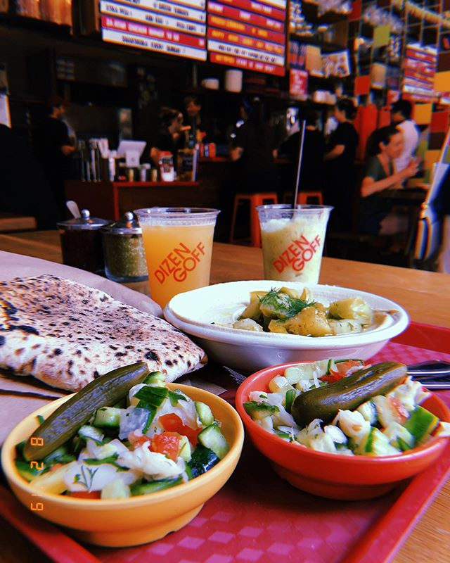 Hummus like a ☁️ with a tangy herby frozen lemonade. @dizengoff_philly I love your big brother @zahavrestaurant but younger siblings need some credit!! Also, my wallet is much happier when I'm with you. 😂 You guys are the 💣