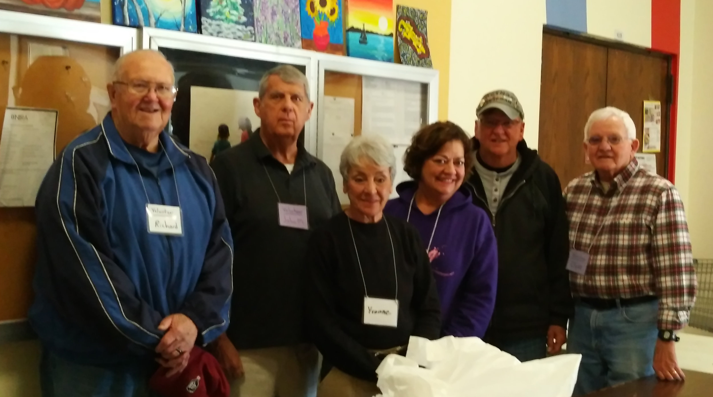 Dutilh's volunteer team at the Center for Hope