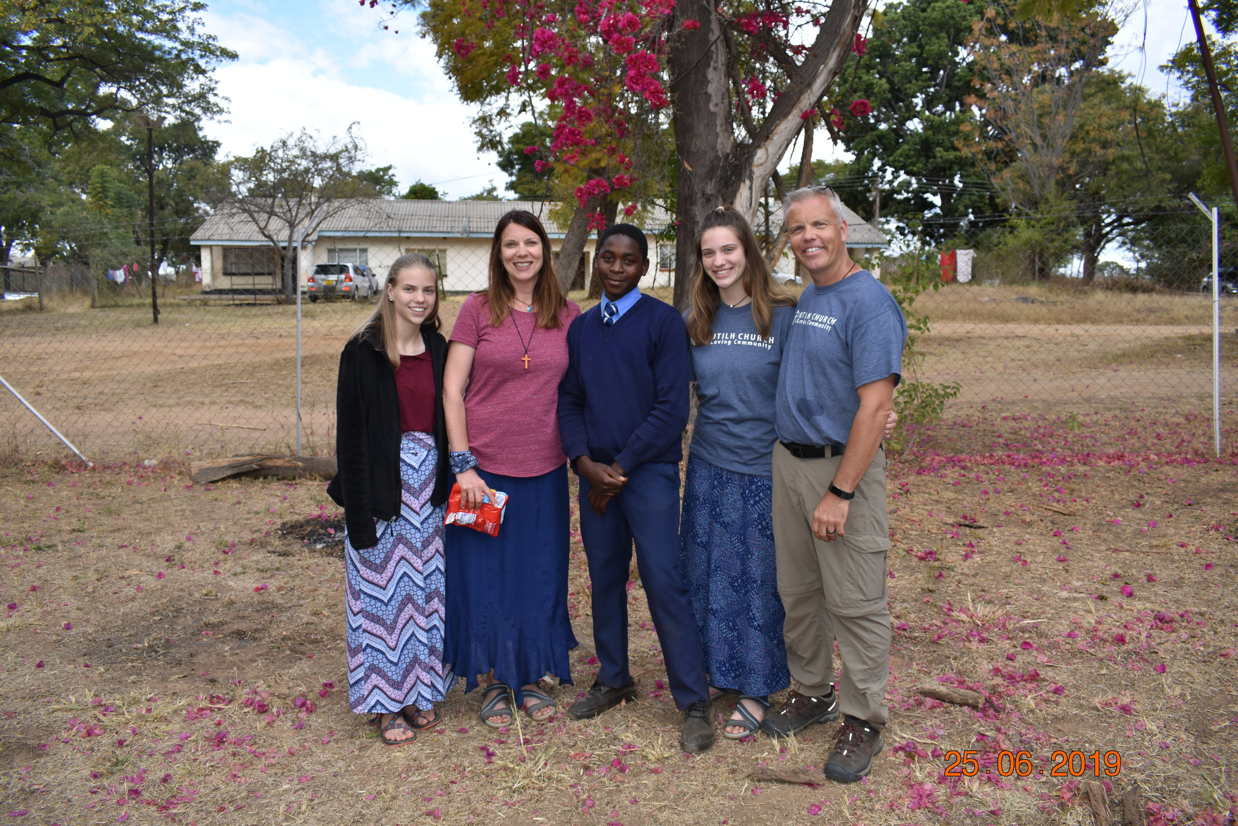 The Ekstam family meets the student they have sponsored in Nyadire.
