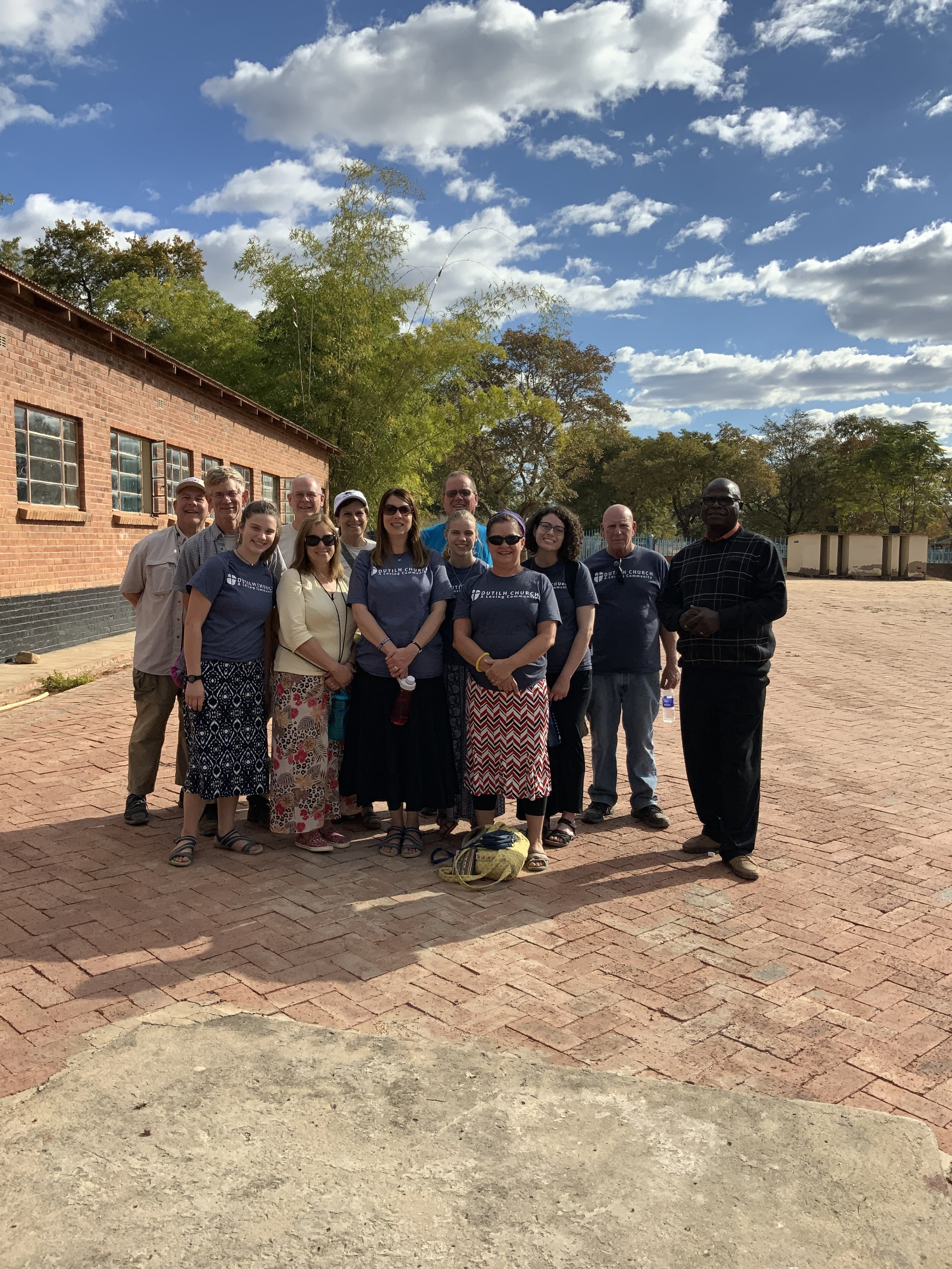 Dutilh Church's TNC mission team pauses for a group photo. Photo by Pete Ekstam.