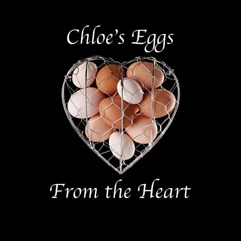 free range eggs inside a heart