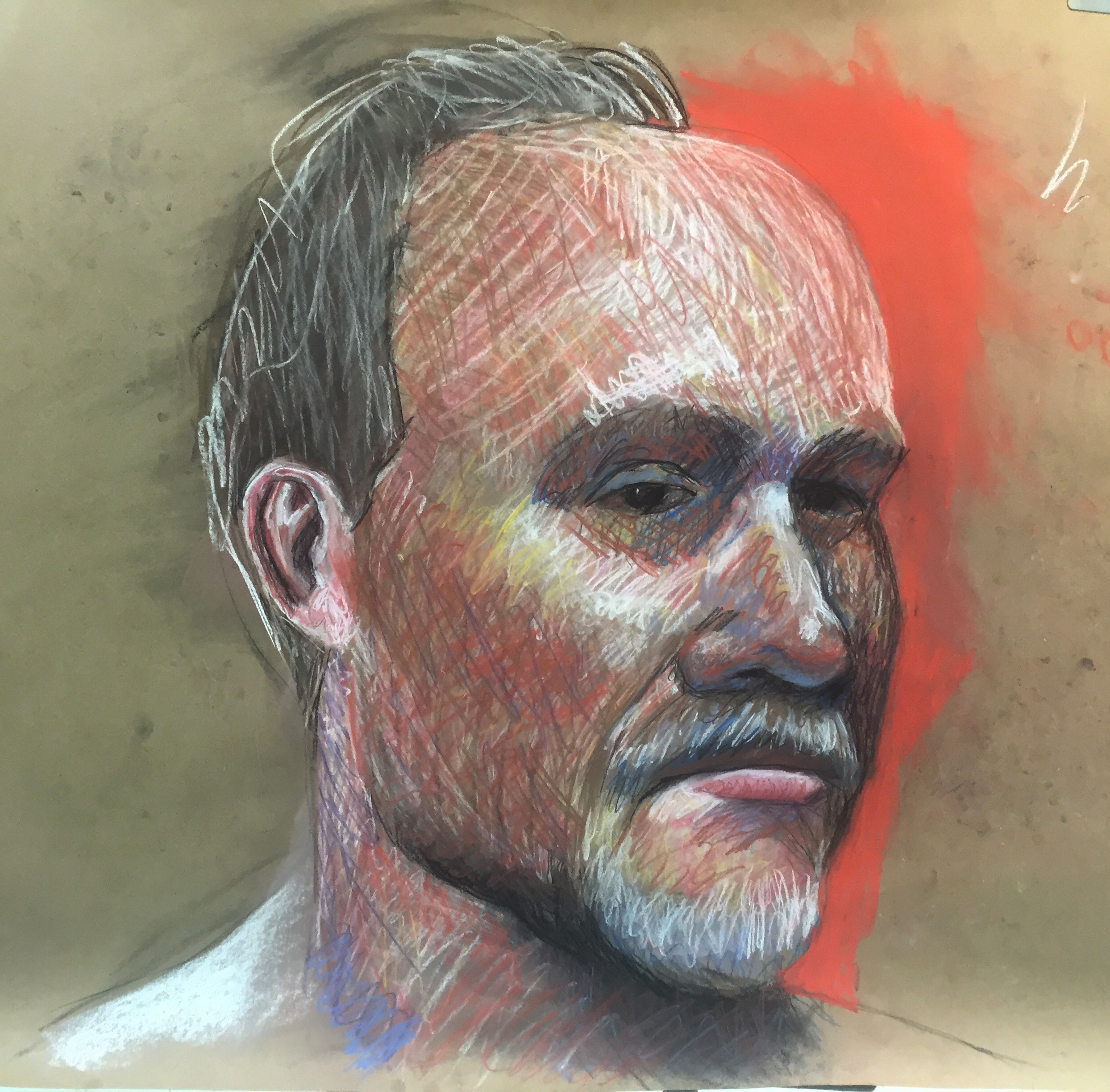 pastel portrait demo