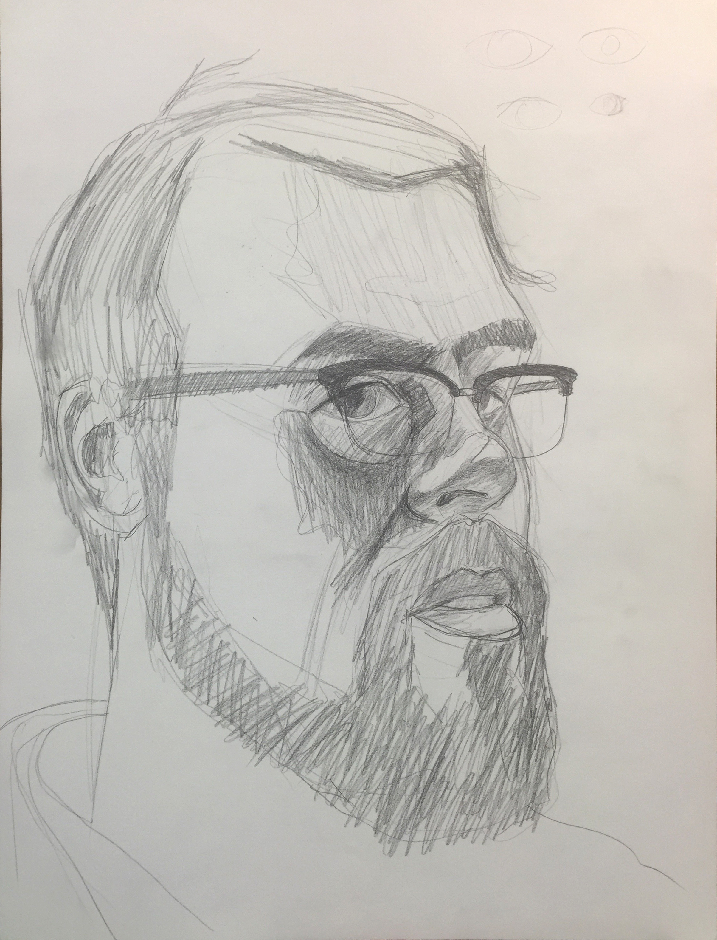 self portrait from life demo