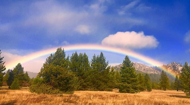 Waiting out the storm. South Lake Tahoe California. #rainbow#naturallight#LakeTahoe##mountainlife#photographer# fresh air #naturallightphototographer