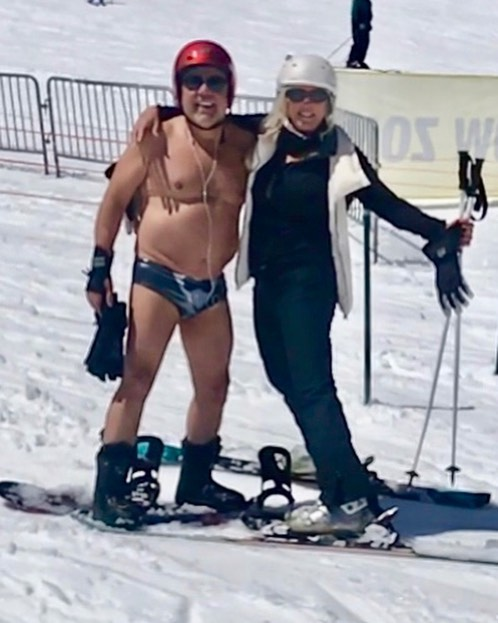 Heavenly Mountain last day! #skier#Heavenly#Springskiing#mountain #hot#speedo#speedoboy#snow#survıvor #picoftheday
