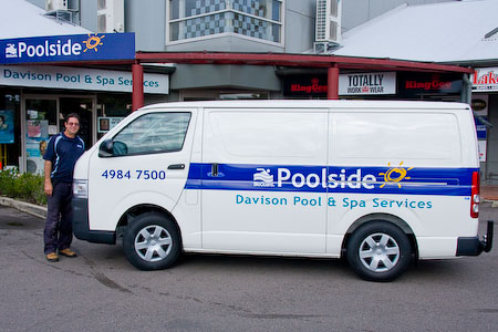 Mobile pool service