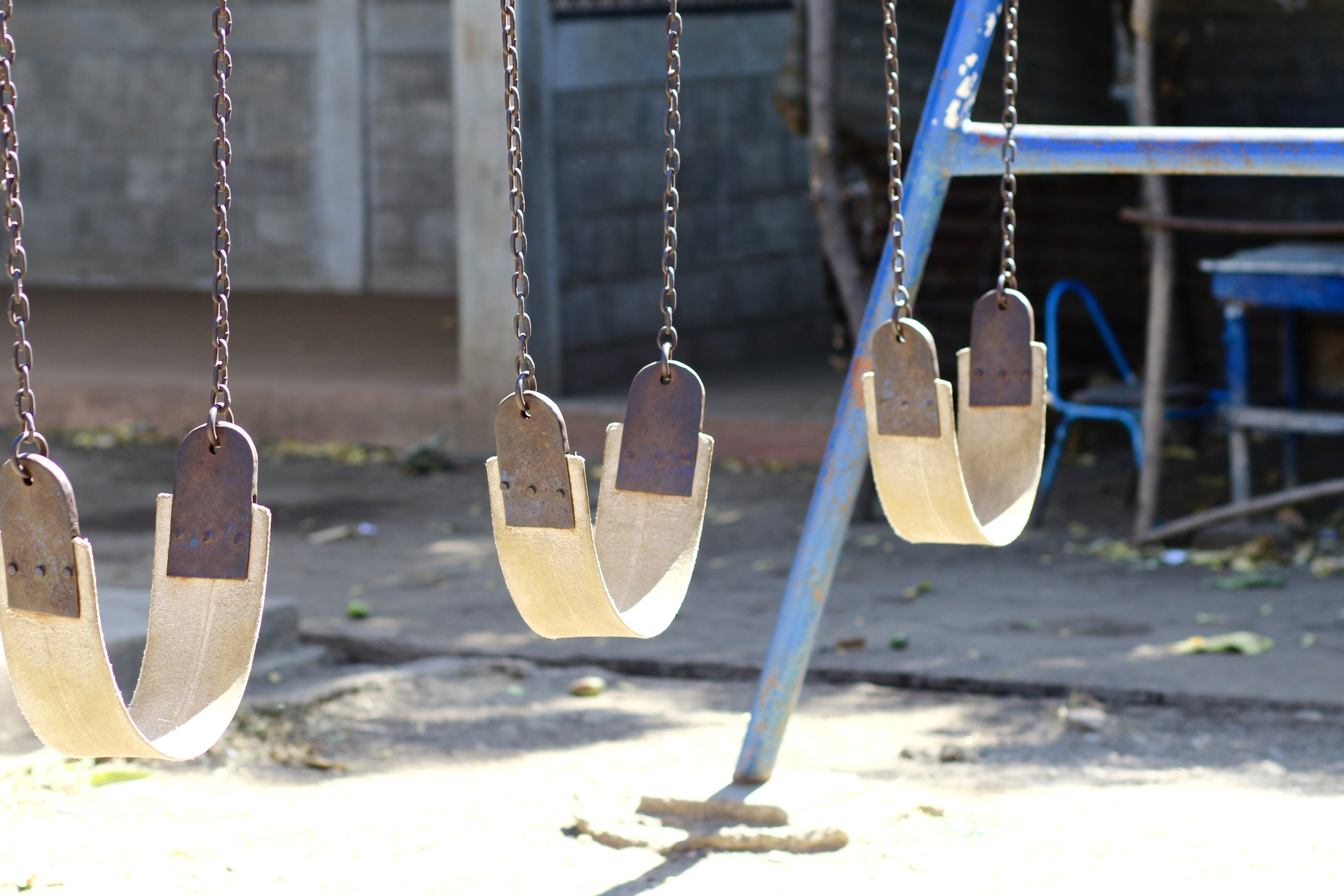 The playground at Escuela La Arenera sits empty on a Saturday morning in March. Photo: Emma Robertson