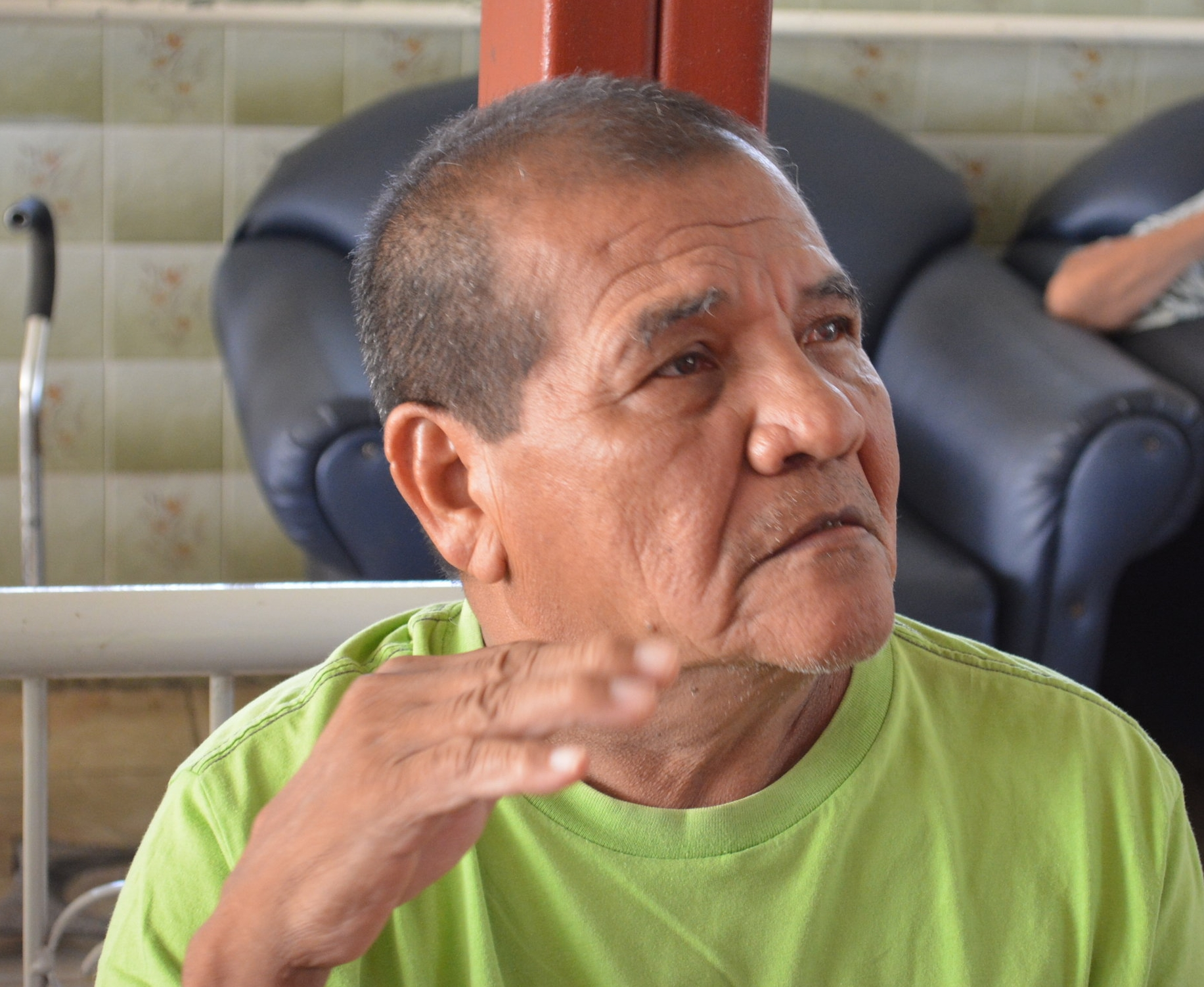 """José Acevedo says the times before the Revolution were simpler: """"With a week of work, I could buy my shoes, my clothes, but now it's impossible,"""" he says."""