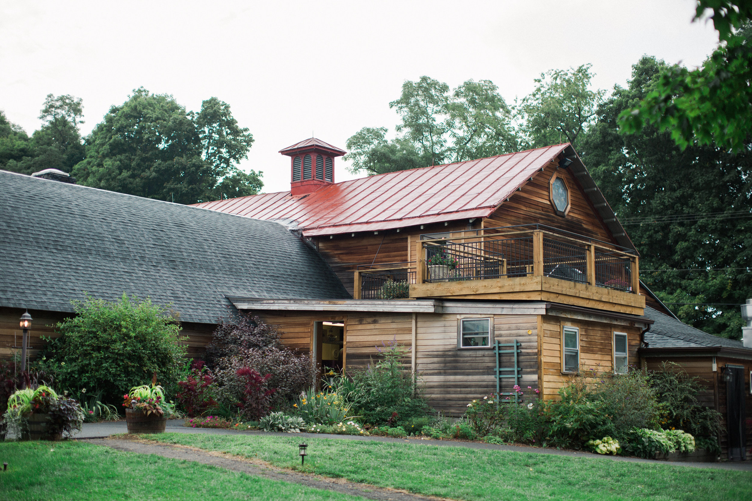 view of lovers deck and side of building