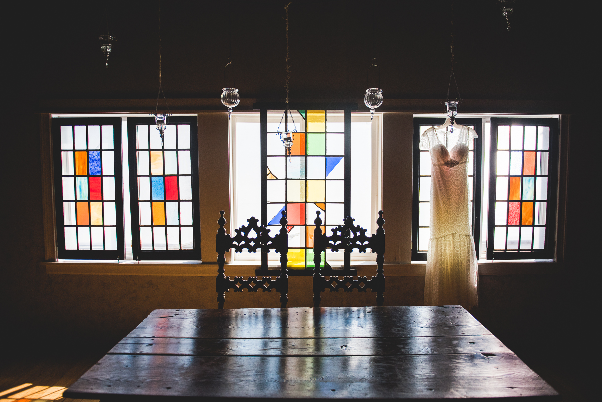 grandma's stained glass windows