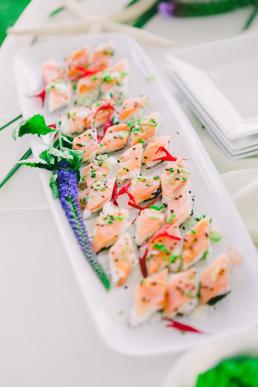 salmon sushi diamonds