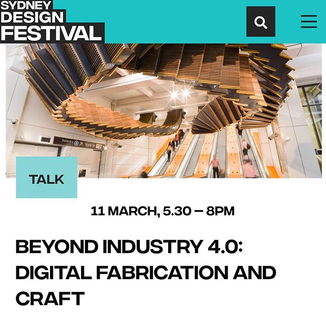 I am on a panel this evening for 'Beyond Industry 4.0' to discuss computational design, sustainable craft traditions, cutting-edge technologies and the evolution of construction knowledge. 'The blending of traditional materials with emerging technologies and global supply chains is a necessity for future sustainable cities.' Chair: Scott Hawken @unswbe Robert Beson @__ar_ma__  Masaaki Iwamoto #KyushuUniversity Yosuke Komiyama @kyotouniversity Nicole Gardner @unswbe Giulia Conti @hassell_studio Chris Fox @foxprojects  11 March, 5.30 - 8pm HASSELL Studio more information @sydneydesignfestival #SDF19 #sydneydesignfestival #builtenvironment #sustainablecities #emergingtechnology #futuredesign #architecture #construction #digitalfabrication #chrisfoxinterloop #chrisfox #studiochrisfox #architecturalintervention #computationaldesign