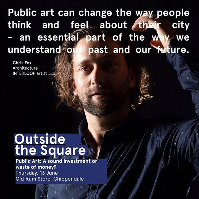 "I am on a Q&A panel for 'Outside the Square' with @crchristineforster and @anneloxley discussing 'Public Art: A sound investment or waste of money?' Come and join the discussion! Get your tickets @artss_sydney  Thursday 13 June, 6-8pm at The Old Rum Store 10 Kensington St , Chippendale NSW 2008 @kensington_st  Repost @artss_sydney - ""I thought I would always be an architect but instead I became an artist. Later, I ended up studying architecture and now work across both disciplines as a sculptor developing public art. When I am not teaching architecture students about art @usyd_arch I am creating large scale public art works."" Photography by Louise M Cooper - The University of Sydney  #outsideusyd #publicart #art #city #infrastructure #cityofsydney #sculpture #wynyardstation #escalater #interloop #installationart #chrisfox #studiochrisfox"
