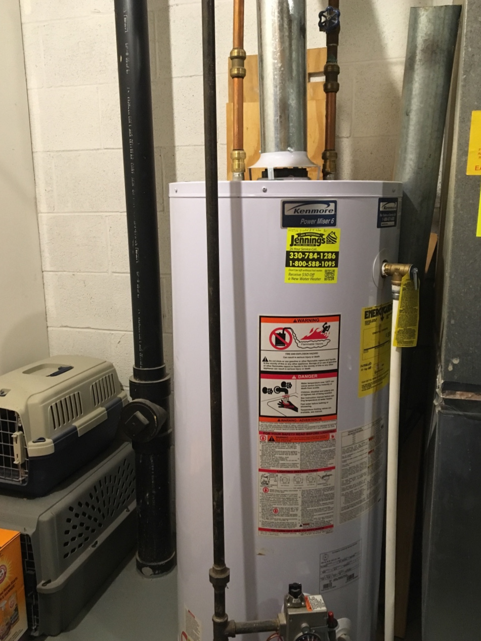 40gal Gas Water Heater Install - Completion Date: March 2019