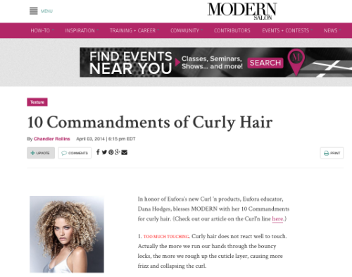 """Preview of """"10 Commandments of Curly Hair 
