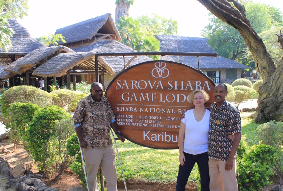 Moses Mathenge and me with Lodge Manager, Josphat Ndegwa