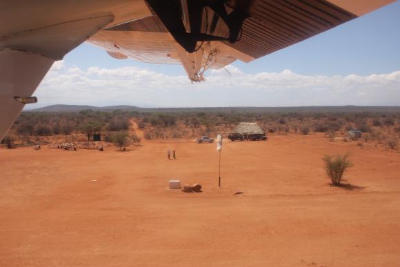 The Kalama Airstrip in Samburu.