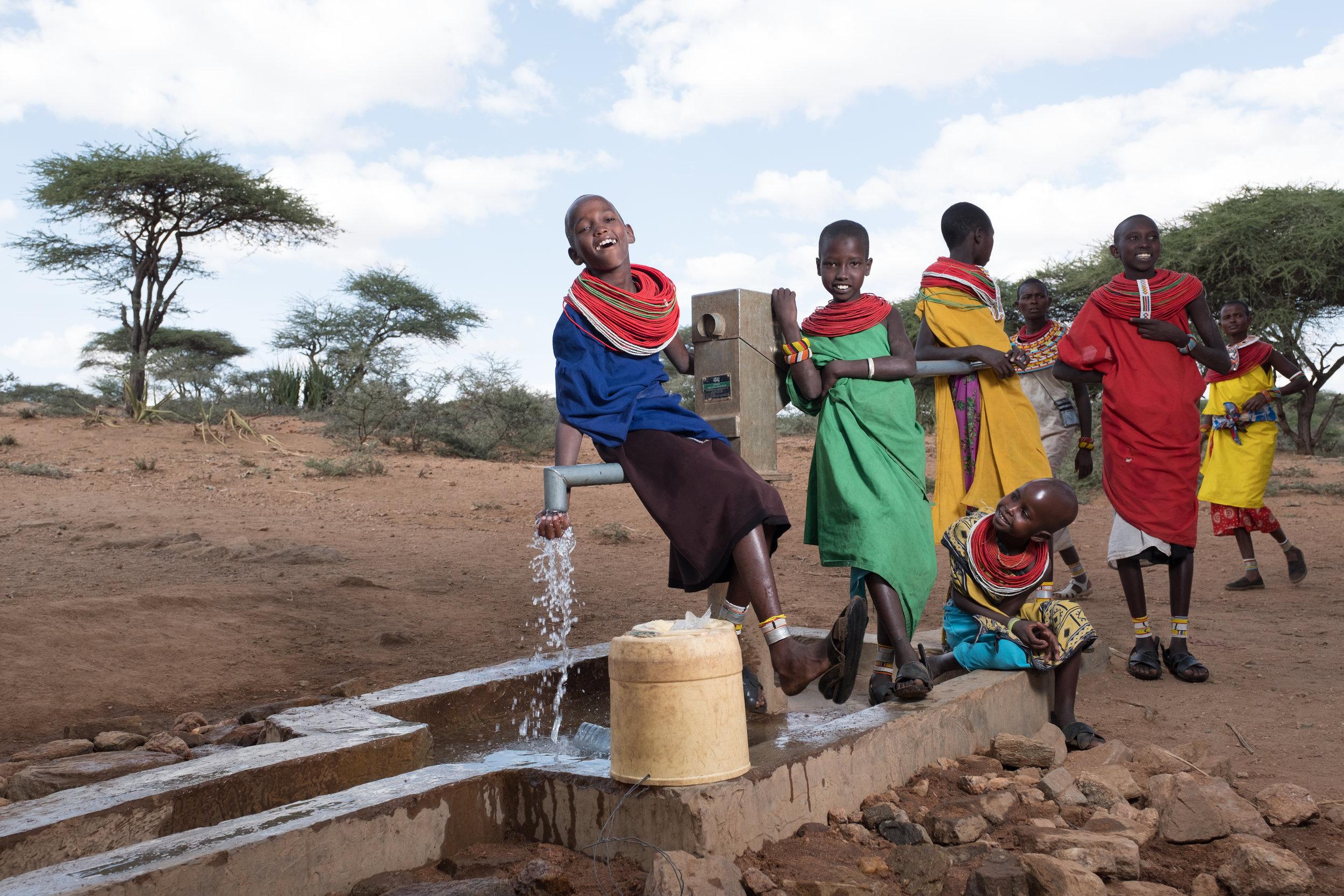 Water Access Samburu Kenya Well Nonprofit