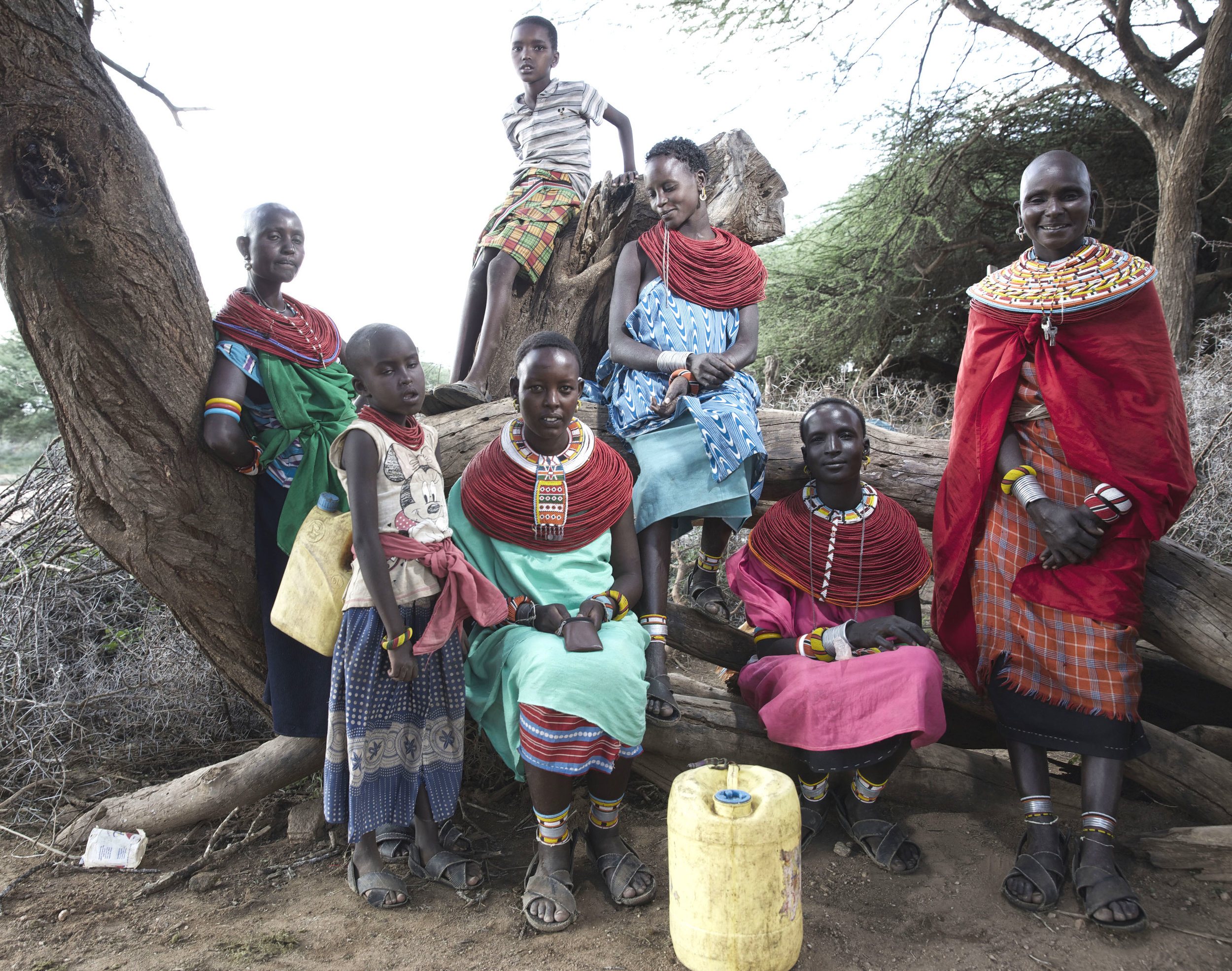 Women and Children in Samburu Kenya Africa