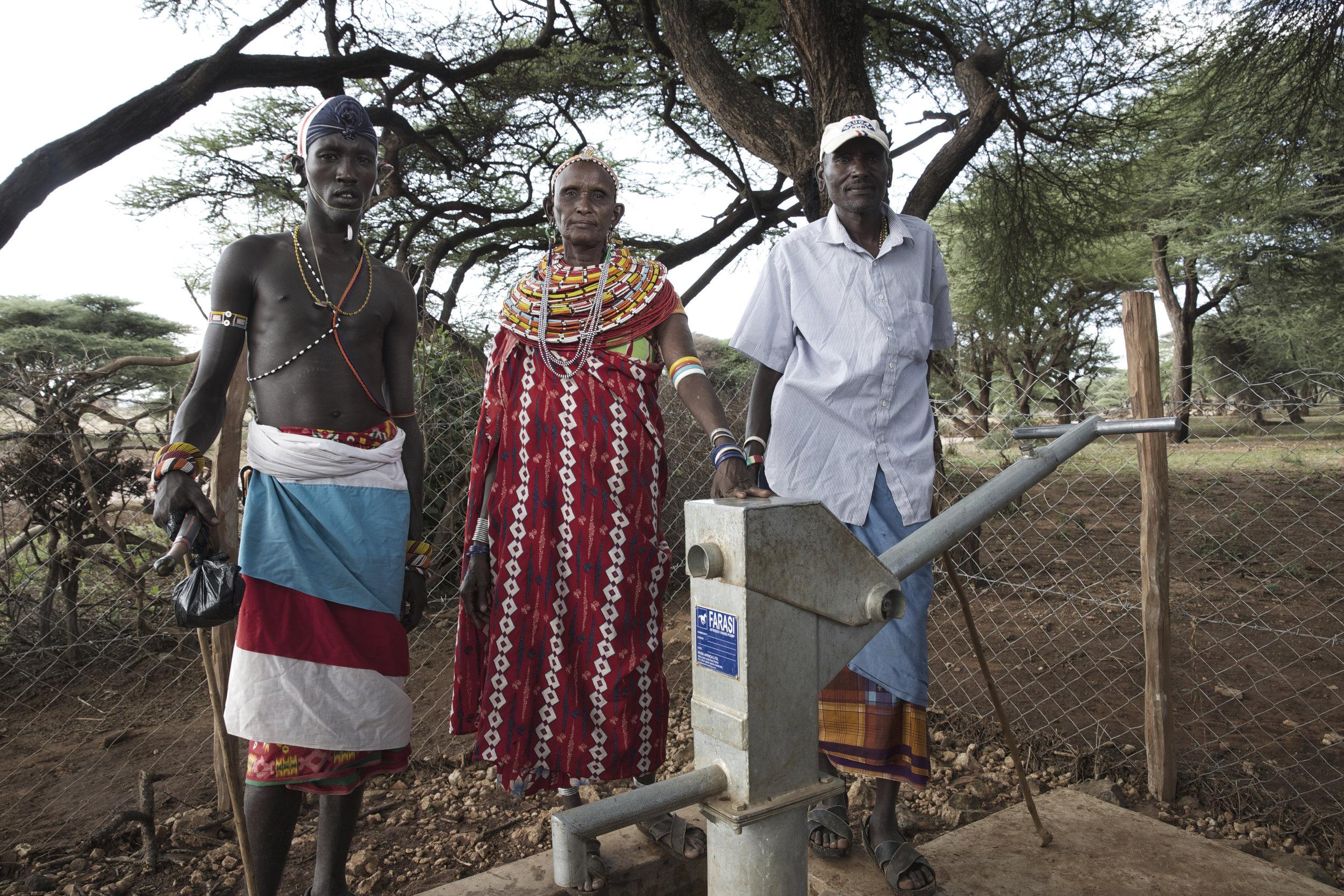 Community Leaders by water well, Samburu Kenya Africa