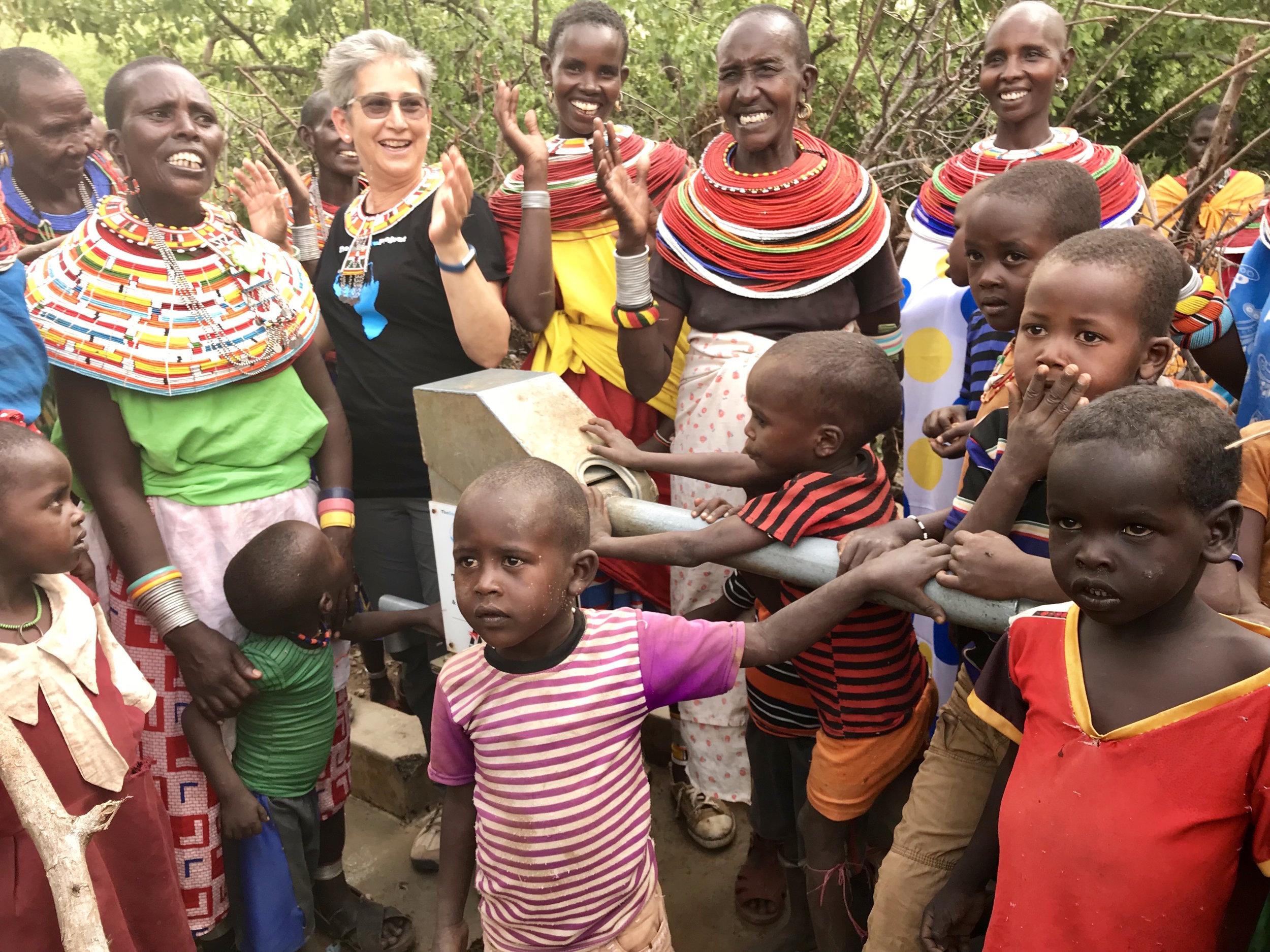 Women and Children at Water Well, Samburu Kenya Africa