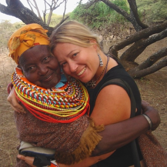 Samburu Leader Mama Musa with TSP Founder, Kristin Kosinski
