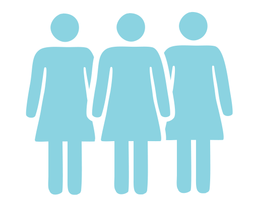 group of women clipart