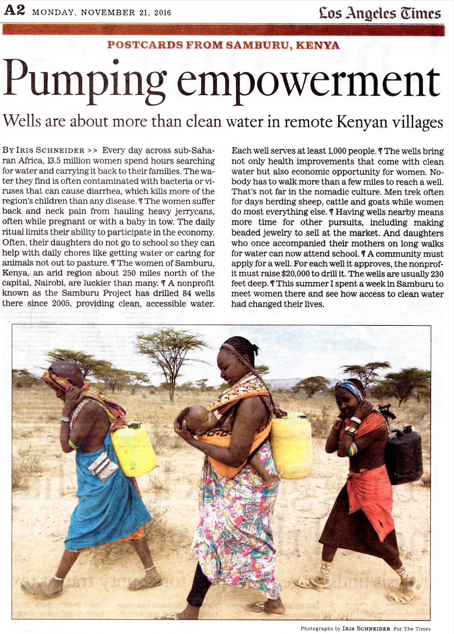 "LA Times Article: ""Pumping Empowerment""   Read Full Article"