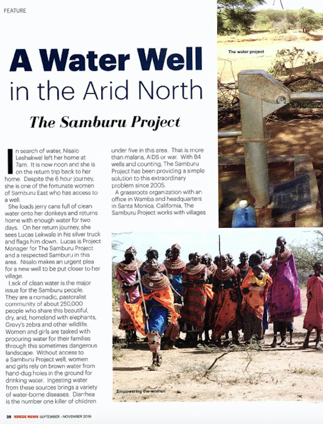 "Ndege Article: ""A Water Well in the Arid North""   Read Full Article"