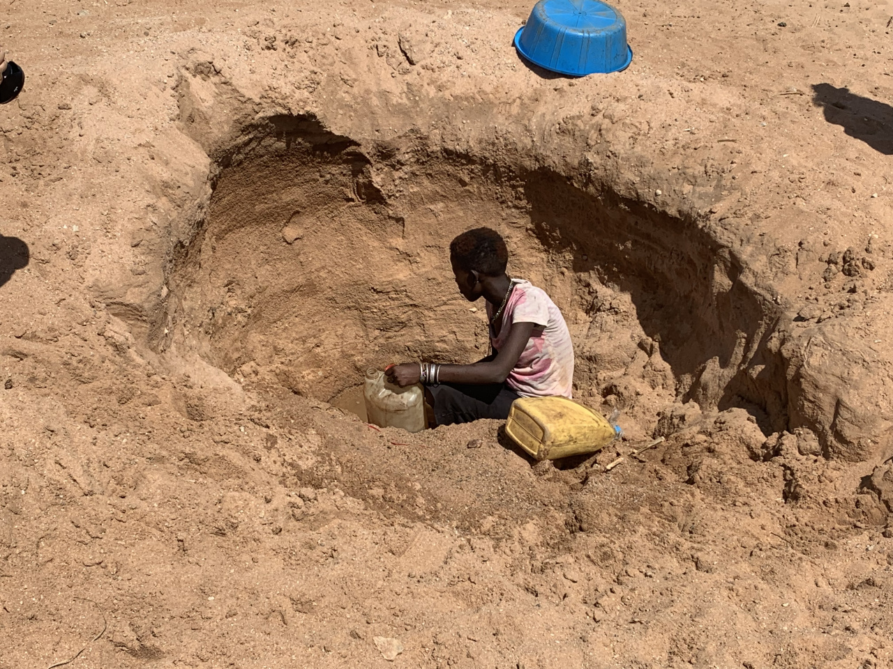 An example of a hand dug well used when no other water sources are available.