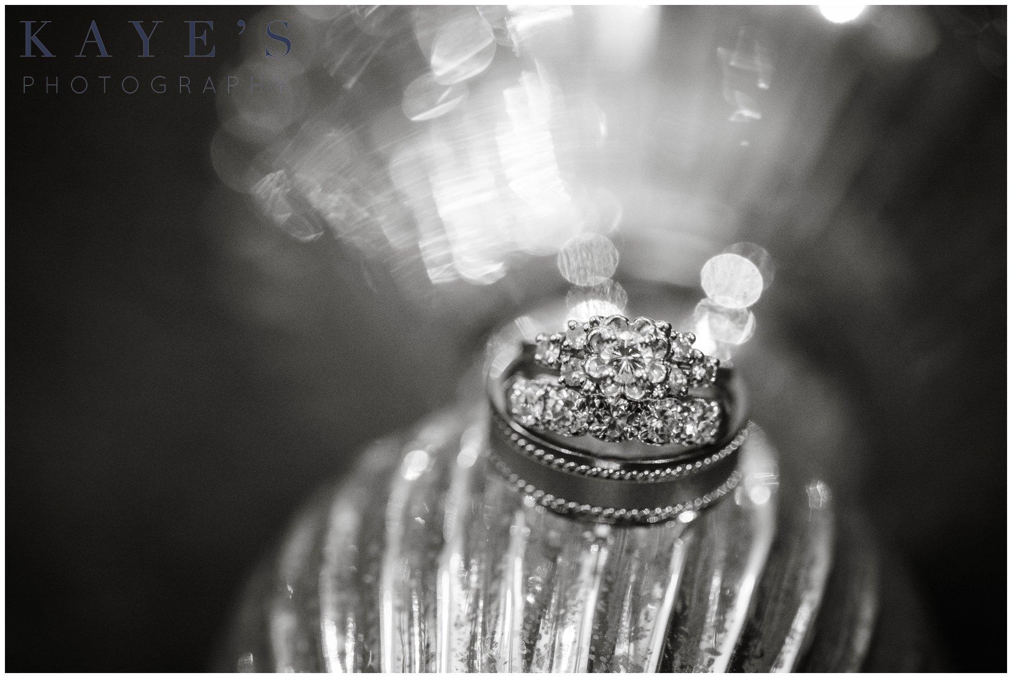 ring shot, clarkston wedding photo ideas, clarkston venue, clarkston wedding reception, black and white