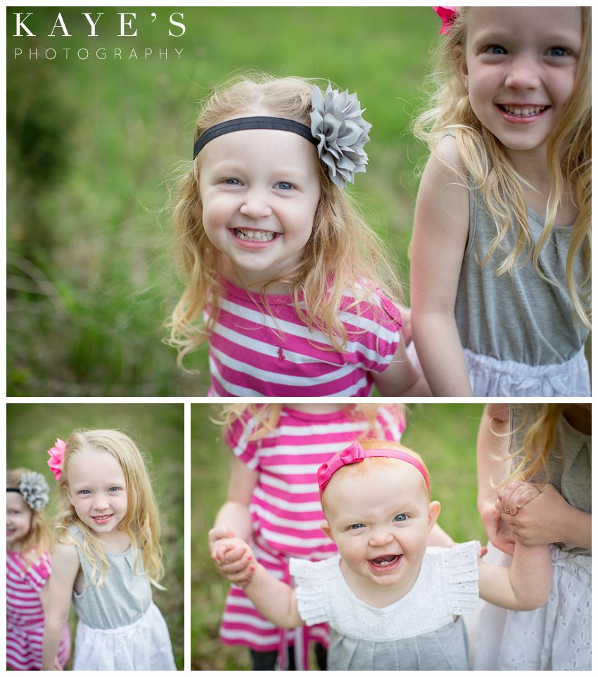 davison michigan family portrait photographer, family portrait photography, outdoor family portrait, best outdoor family portrait photograper, close up of girls, sweet girls