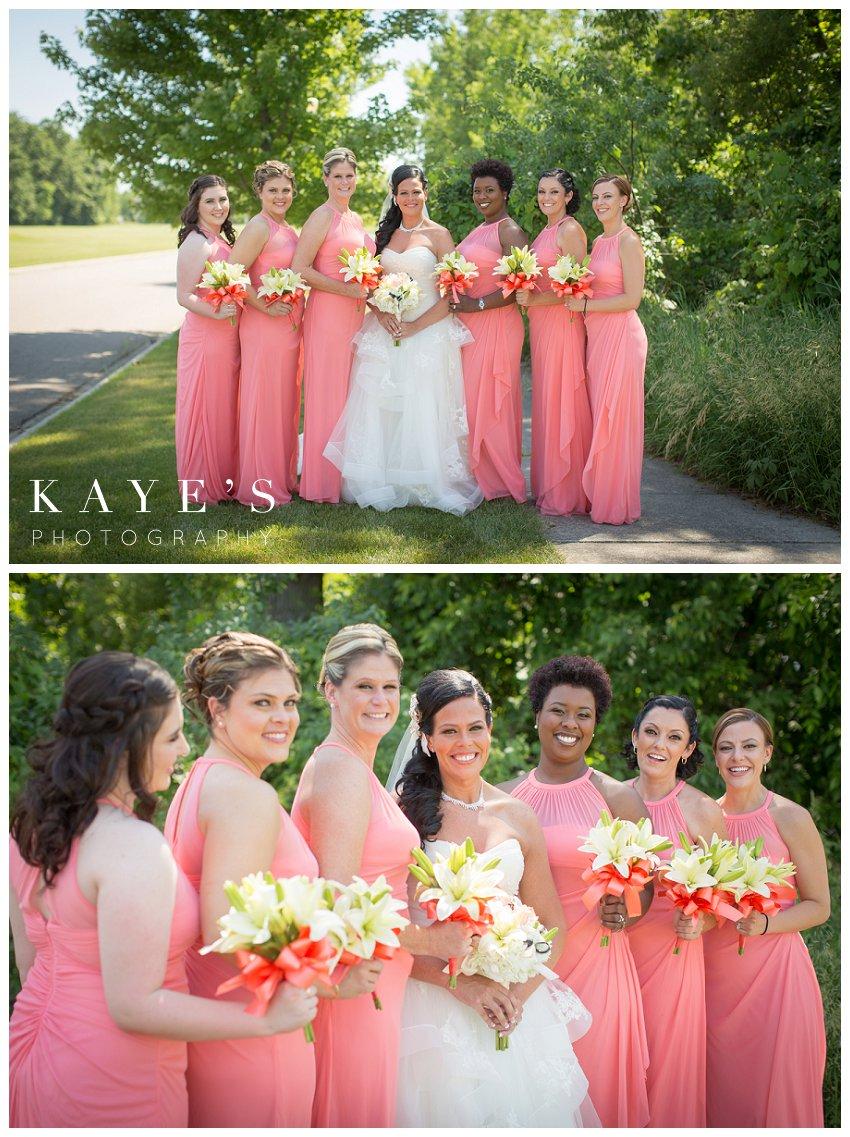 Captain's Club Wedding Photographer, Captains Club Grand Blanc Michigan Wedding photography, grand blanc michigan wedding portraits,mid michigan wedding photography, bride with bridesmaids, bridal party, bridesmaids with bride