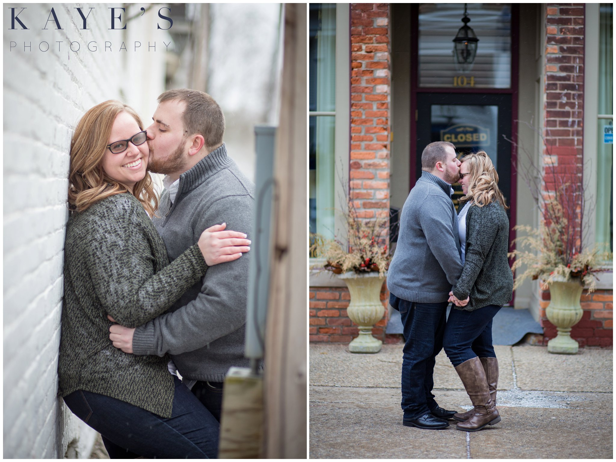Grand blanc, Michigan engagement session with couple hugging and laughing during their engagement photos