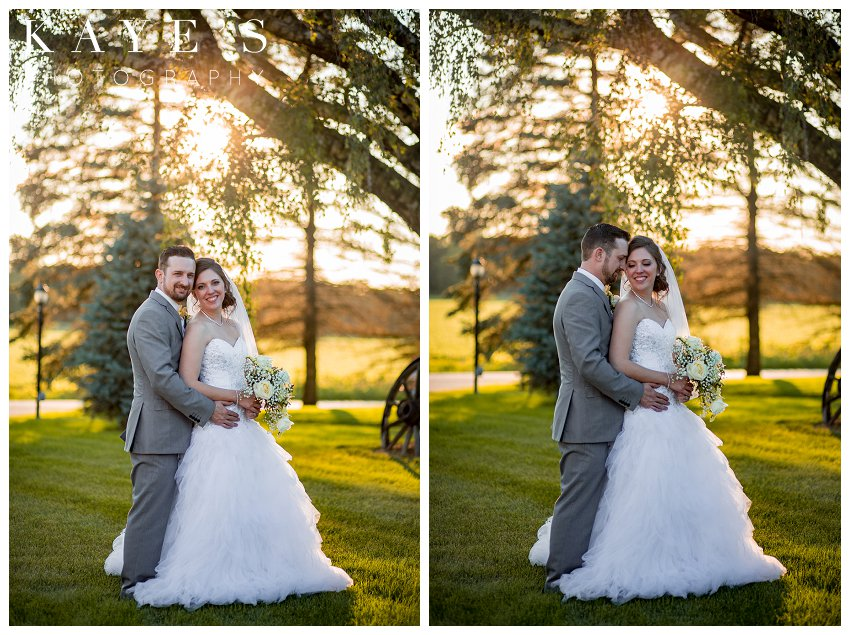 bride and groom portraits on wedding day in milford michigan