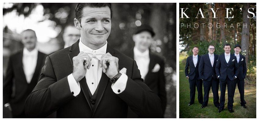 groom getting ready on wedding day in lapeer michigan