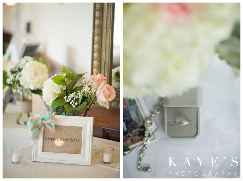 bride details at captain club wedding in grand blanc michigan
