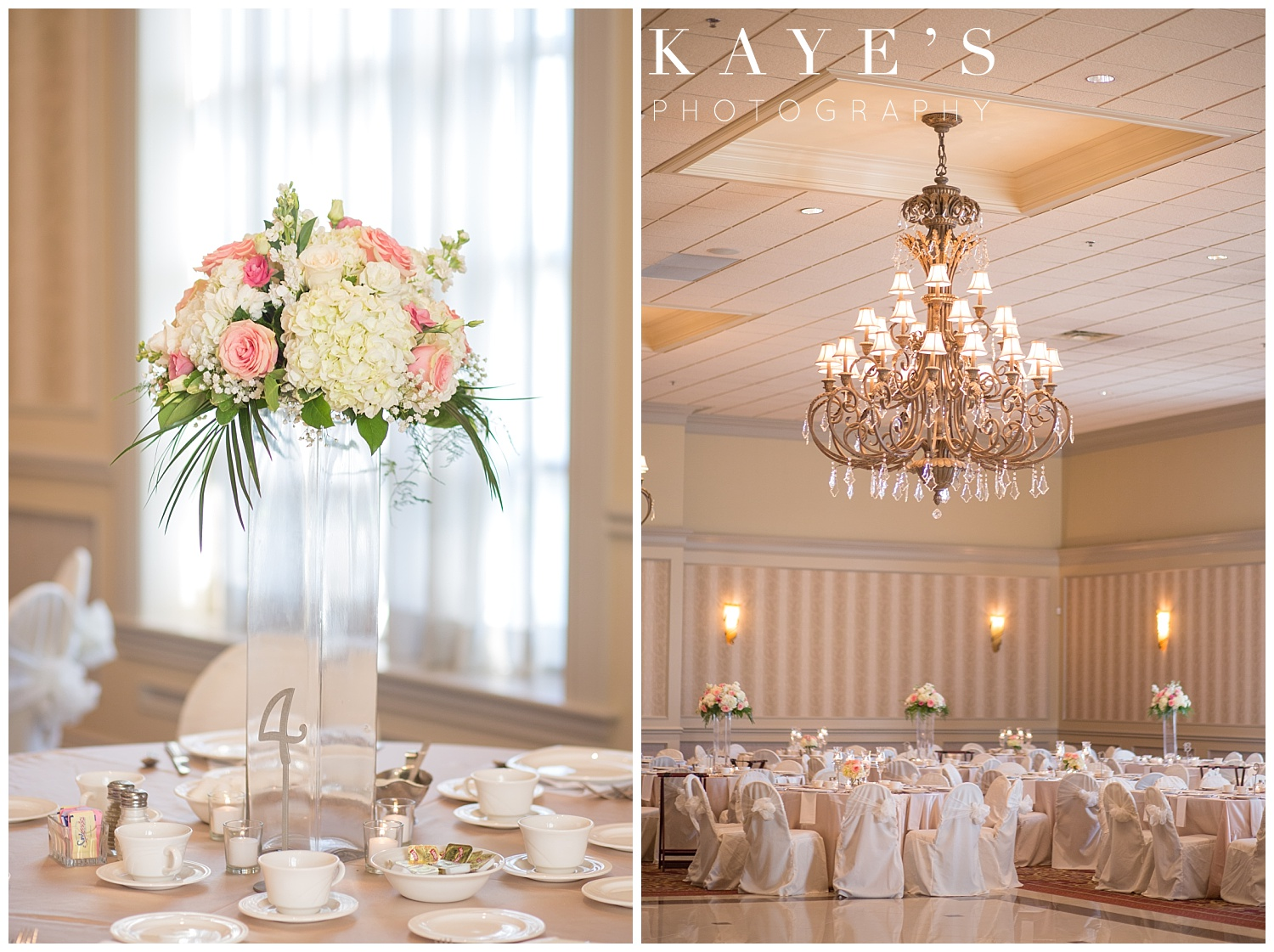 table details at the palazzo grand in michigan for wedding