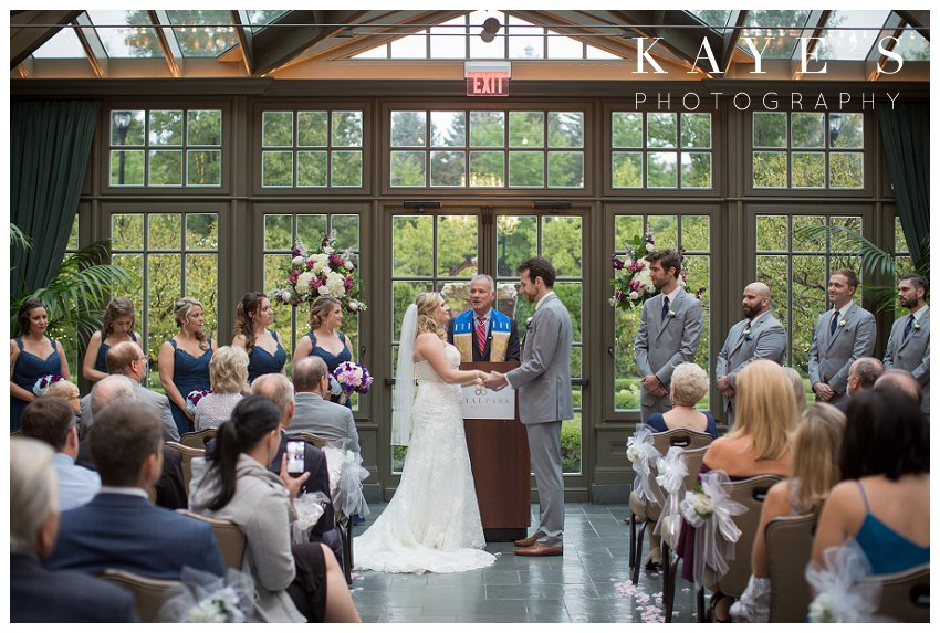 Royal park hotel wedding in the conservatory in rochester Michigan