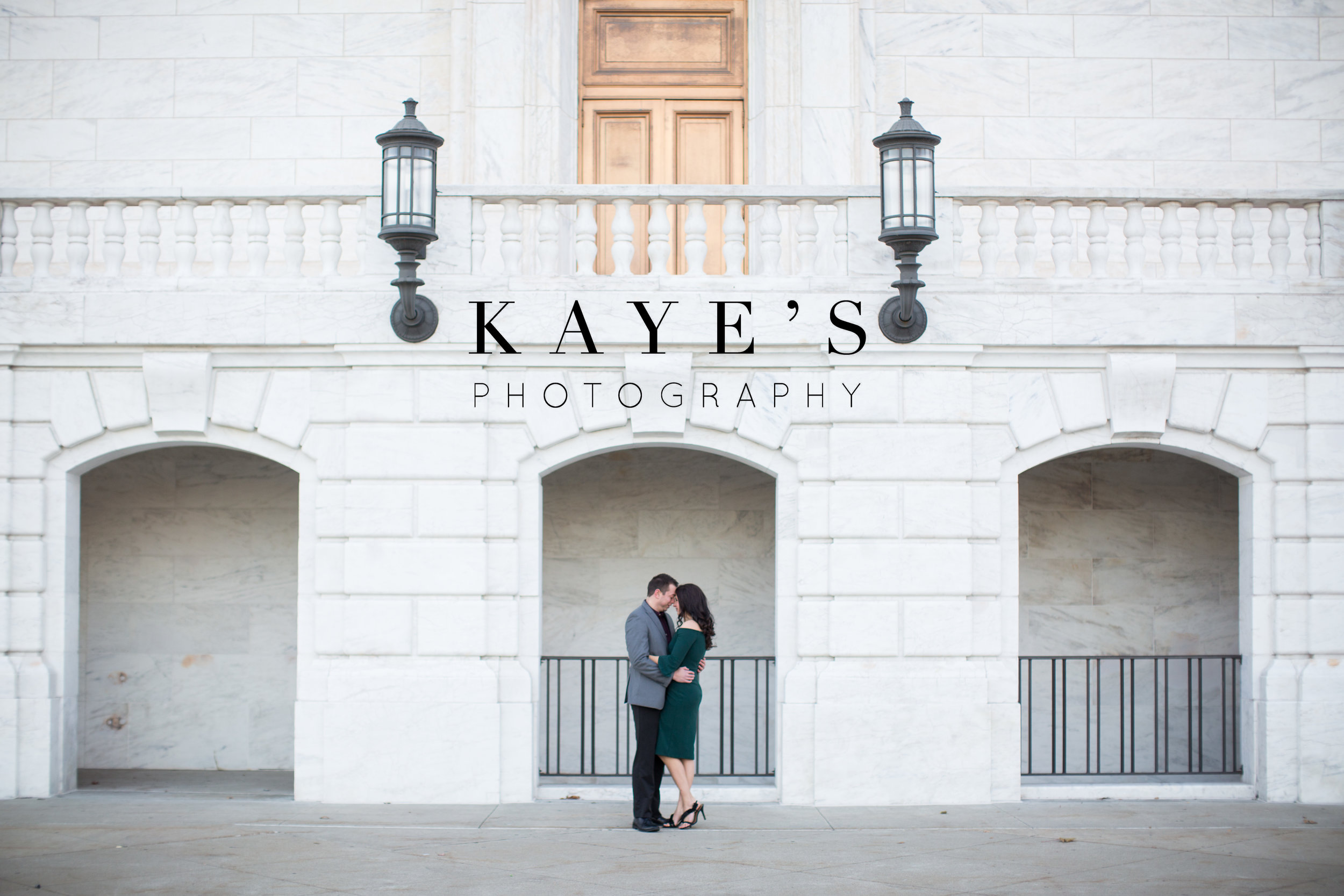 engagement session in downtown detroit in front of the detroit institute of arts
