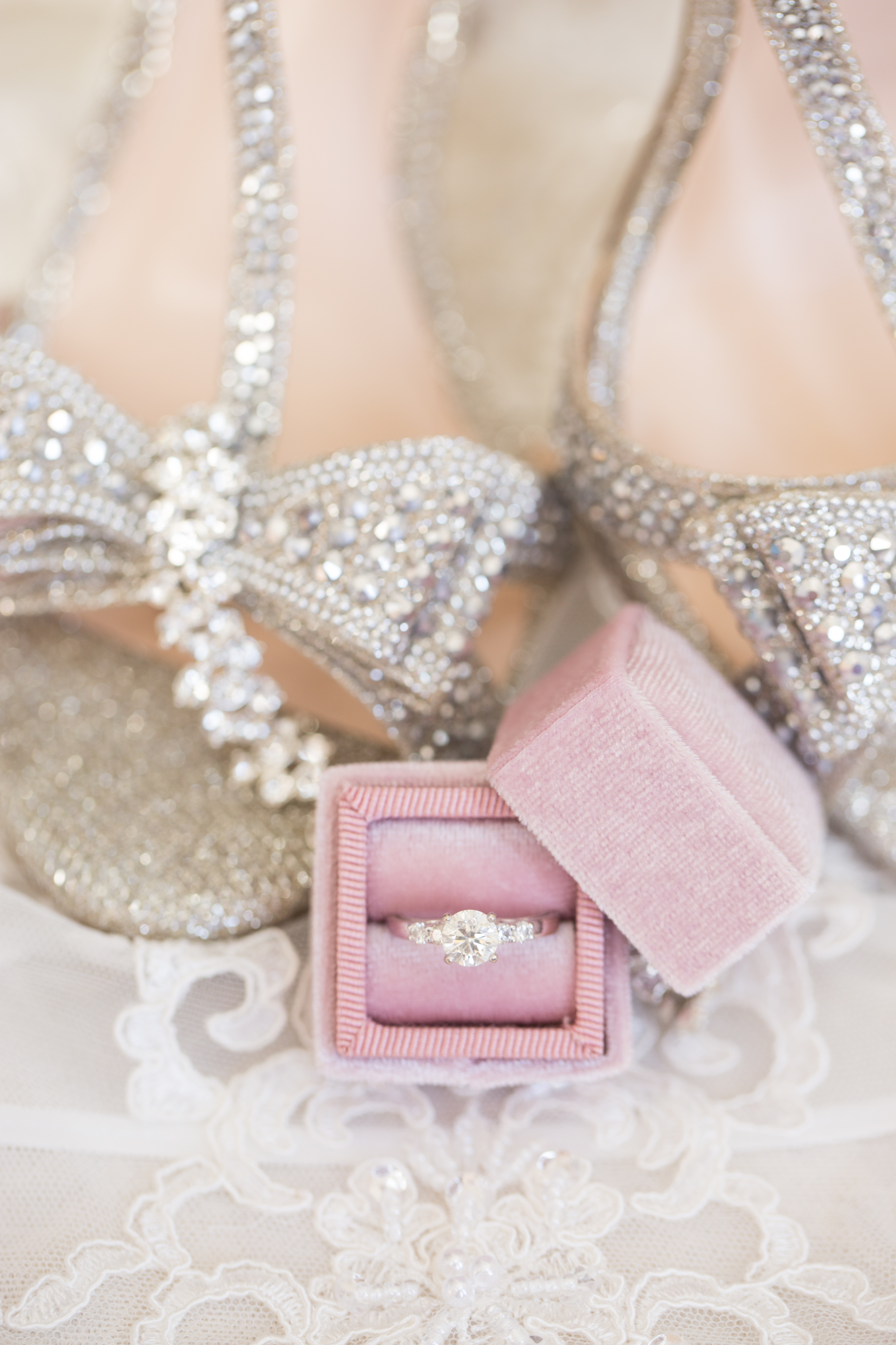 bride details on wedding day in rochester hills during polish wedding